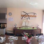 La cuisine Américaine ouvert sur la salle à manger de la Villa Groix