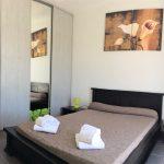 chambre avec un lit de 2 personnes en 140 à la Villa Belle Île en Bretagne