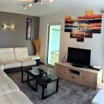 Salon équipé de la TV, internet en wifi ou filaire à la Villa Belle Île en Bretagne