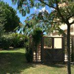 Le jardin sud de la villa St Cado dans le Morbihan Sud en Bretagne