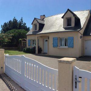 La villa St cado à Plouhinec dans le Morbihan Sud
