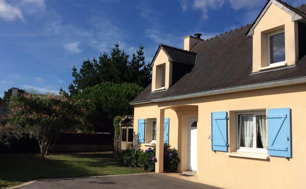 Villa Saint Cado, maison dans la ria d'Etel, Morbihan, Bretagne