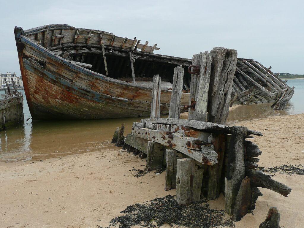 Cimetières de bateaux de la ria d'Etel