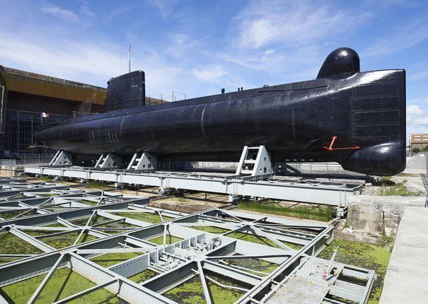 Sous-marin Flore S645 à Lorient